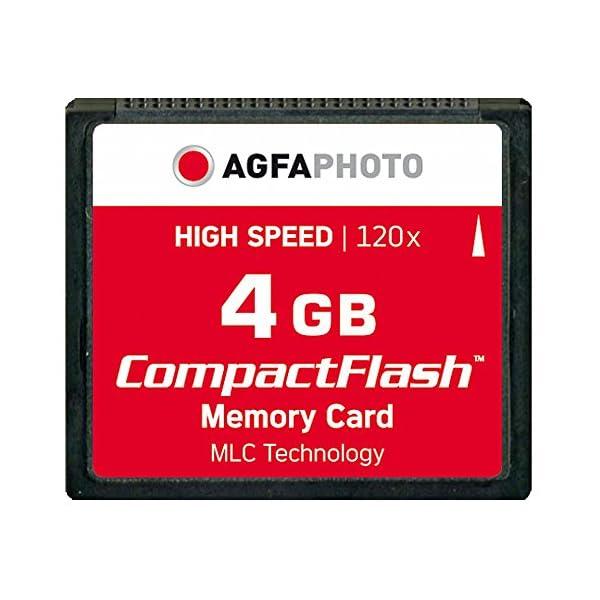 AgfaPhoto - Tarjeta de Memoria CF 4 GB (120x Alta Velocidad, MLC)