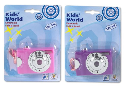 TOY FUN Digital-Kamera, ts2 mit Licht und Sound, 2-fach sortiert (0012083)