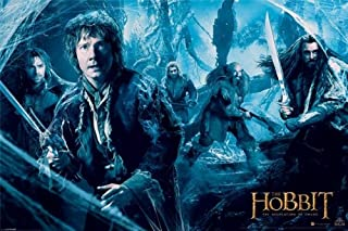 The Hobbit 2: The Desolation Of Smaug - Movie Poster (Mirkwood - Bilbo & The Dwarves) (Size: 36