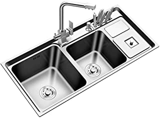 HXCD Évier de Cuisine carré en Acier Inoxydable carré de Conception à la Main de qualité supérieure de 1,2 mm d'épaisseur ...