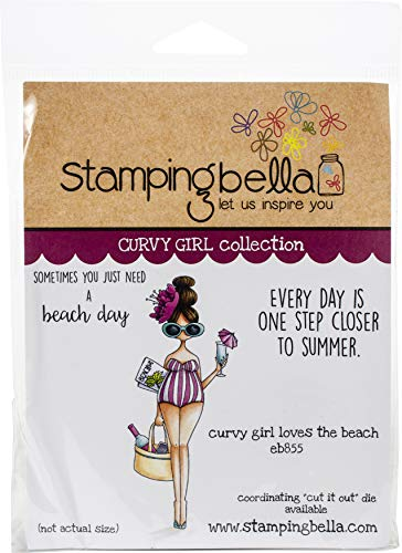 Stamping Bella Stamp LUV, us:one size, Curvy Girl Loves the Beach