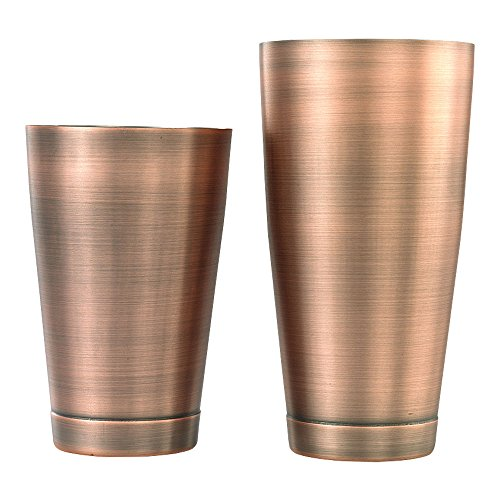 Barfly Cocktail Tin, Set (18 oz and 28 oz), Antique Copper