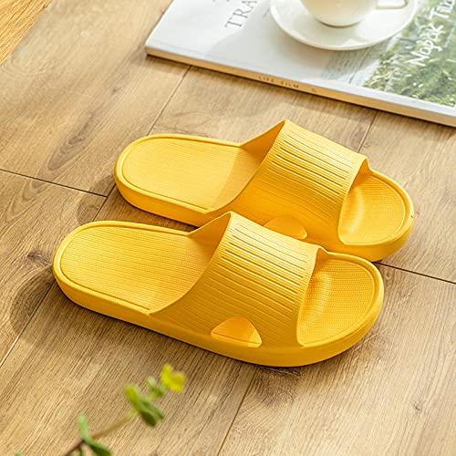 ZZLHHD Hombre Baño Sandalias,Indoor Home Bath Slippers, Mute Slippers,-Yellow_44-45,Zapatillas Pantuflas Playa Hombre y Mujer,