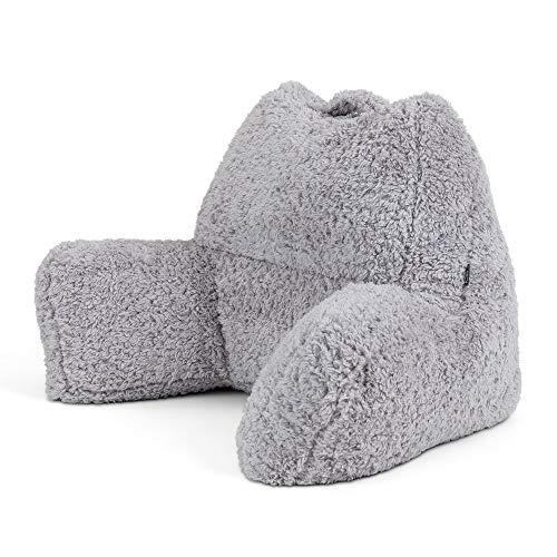 icon Teddy Bear Cuddle Cushion, Sherpa Berber Fleece Bean Filled Support Reading Pillow