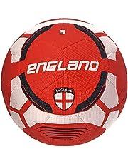 كرة قدم مطاطية مصبوبة بشعار منتخب انجلترا من فيكتور اكس، مقاس 3 (ابيض/ خمري)