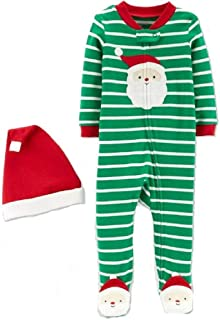 Just One You Baby Boys' Stripe Santa Sleep 'N Play Made by Carter's