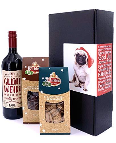 Weihnachtsmarkt to Go - Geschenkbox Frohe Weihnachten (Glühwein, Spekulatius und Lebkuchen aus Nürnberg)