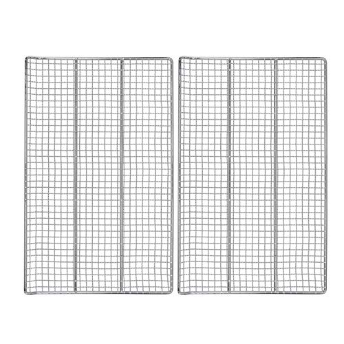 Hisencn Cooking Grate Jerky Rack Replacement Parts for Masterbuilt 40 Inch Electric Smoker, 19.69' x 12.2' Cooking Rack, 2 Pack