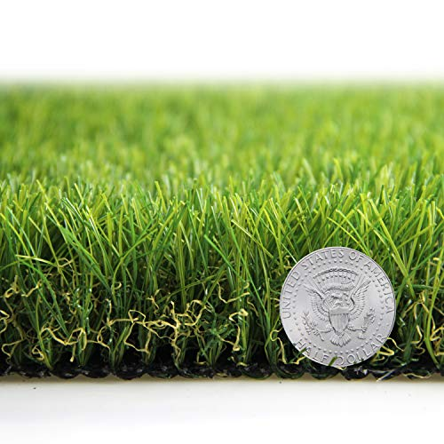 Artificial Grass Turf Lawn Fake Grass Mat Thick Synthetic Turf Rug Indoor Outdoor Carpet Garden Lawn Landscape Rubber Backed with Drainage Holes,1.77inch Pile Height (10ft x 5ft=50 Sqaure ft)