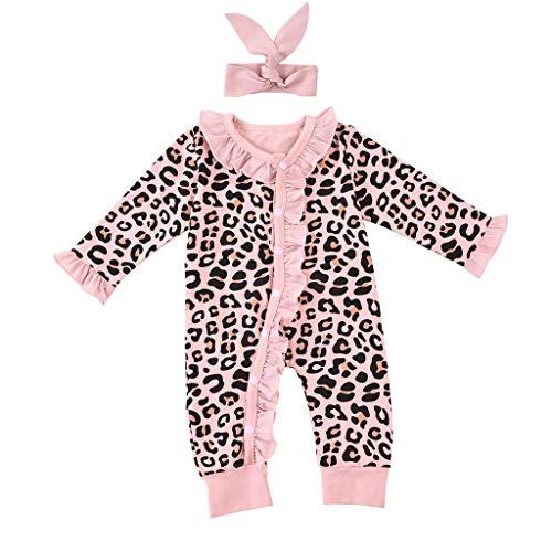 YWLINK Ropa Bebé Leopardo Pelele Mono para ReciéN Nacido Bebé Pijama Manga Largo Mameluco Ropa De...