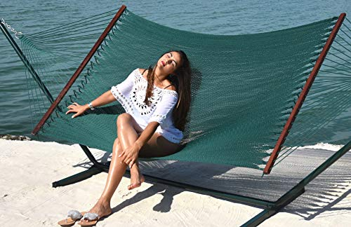 Caribbean Hammocks - Island Oasis and Stand Set (Green Stand and Green Hammock)