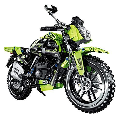 Oeasy Technik Motorrad, 518 Klemmbausteine Technik Mountainbike Rennen Motorrad Modell, Bausteine Bausatz Kompatibel mit Lego Technic