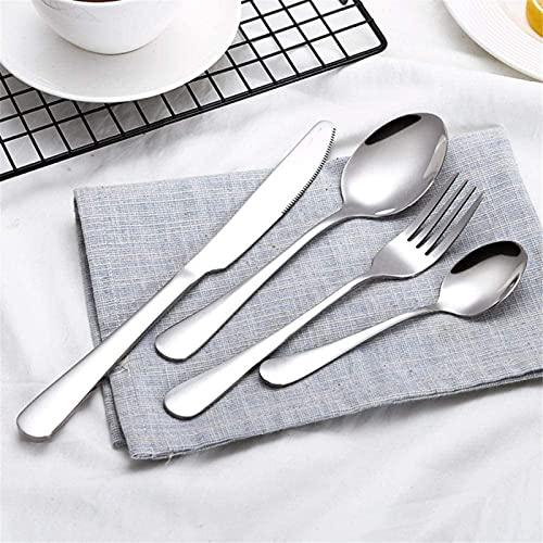 ZRB Juego de vajilla clásica, utensilios de acero inoxidable de 4 piezas vajilla vajilla Set cubiertos con tenedor cuchillo cucharas cuchara