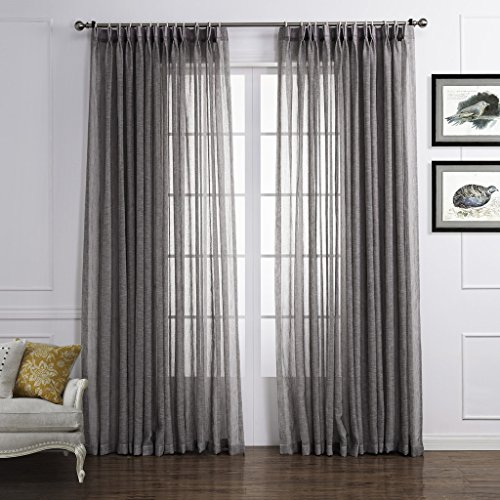 cortinas lino sintetico