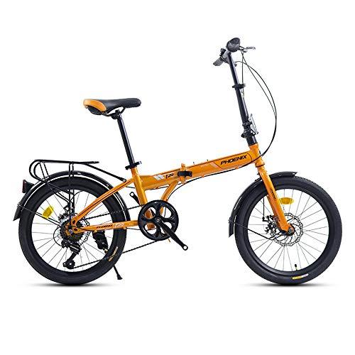 Bicicleta,bicicleta de montaña plegable de 20 pulgadas,bicicleta portátil,bicicleta de montaña de 7 velocidades,para adultos y adolescentes,marco de acero con alto contenido de carbono, antidesli