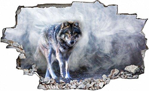 Wolf Natur Tier Wildness Wandtattoo Wandsticker Wandaufkleber C0645 Größe 70 cm x 110 cm