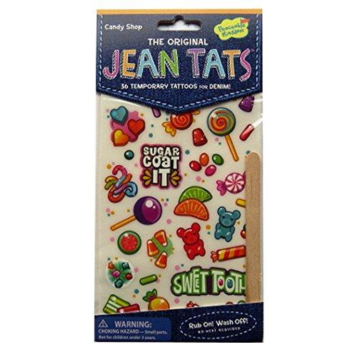 L'original Jean / Denim / Tissu Tatouages - Boutique de Bonbons - par Peaceable Kingdom