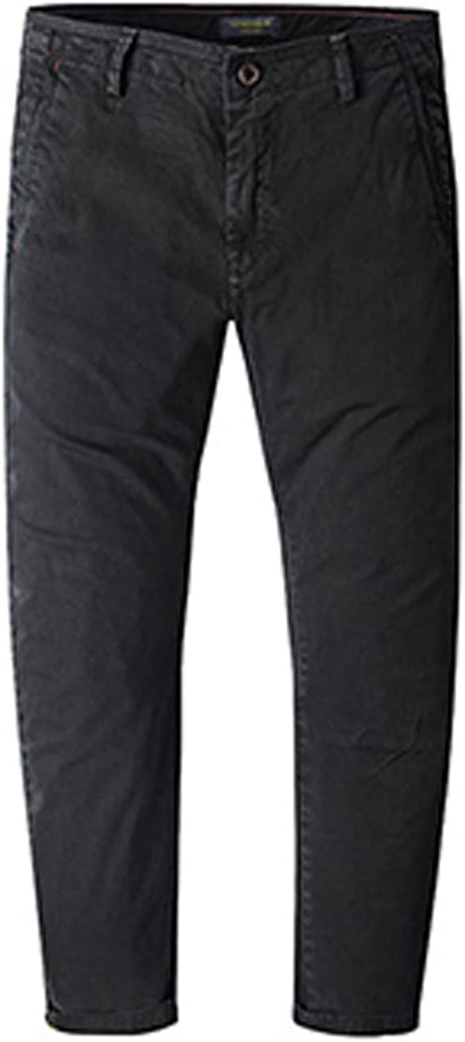 EVEDESIGN Men's Slim Straight Stretchy Pants Casual Skinny Flat Front Pant Trousers