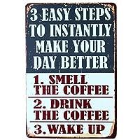 3 Steps Make Your Day Better 金属板ブリキ看板警告サイン注意サイン表示パネル情報サイン金属安全サイン