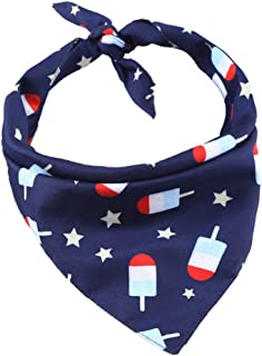 BESTOYARD American Flag Dog Bandana Popsicle Pattern Triangular Pet Necktie Towel for Dog Pet Puppy
