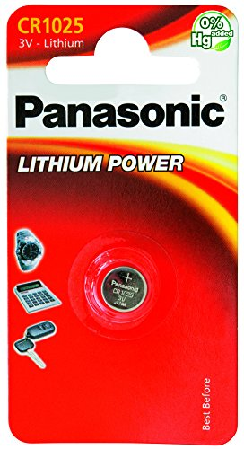 Panasonic Knopfzelle Lithium CR1025 (30 mAh, 3 Volt)