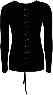 Pullovers Sweaters Womens Casual Long Sleeve O-Neck Bandage Shrugs Coat Blouse ANJUNIE