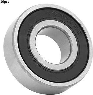 Keenso 10 Piezas de rodamiento de Bolas de Ranura Profunda de 15 mm, rodamiento de Bolas de Acero 6202-RS para Cajas de Cambios