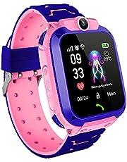Smartwatch voor kinderen, smartwatch voor muziek, tweerichtingsgesprek, wekker, mp3-rekenmachine, verjaardagscadeauspeelgoed voor jongens en meisjes (roze)