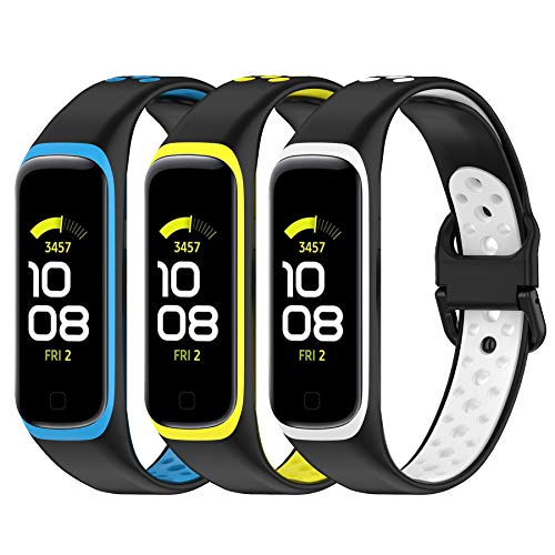 SenMore 3 Correas para Samsung Galaxy Fit 2, Correas Deportivas de Repuesto de Silicona para Samsung Galaxy Fit2, Correas de Repuesto Suaves y Transpirables para Samsung Galaxy FIT 2