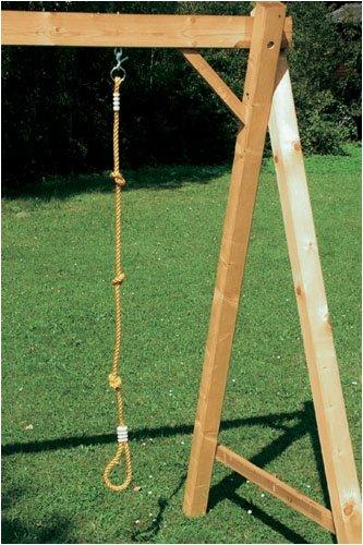 Schaukel Kletterseil 180 cm mit Fußschlaufe und 3 Knoten