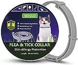 SEISSO 38cm Zecken Halsband für Kleine Hunde und Katzen,8 Monate Kontrolle Schutz und Verstellbar Größe Zeckenhalsband