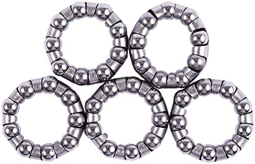 Hinleise Rodamientos de bolas para bicicleta de montaña con 9 rodamientos de bolas (5 unidades)