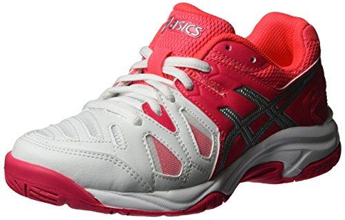 Asics Gel-Game 5 GS, Zapatillas de Tenis Unisex Adulto, Blanco (White/Diva Pink/Silver),...