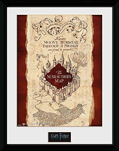 "Harry Potter ""Marauder's Map Framed Photograph, 40 x 30 cm"
