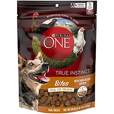 Purina ONE Made in USA Facilities Dog Training Treats, True Instinct Bites with Farm-Raised Chicken - 20 oz. Pouch by Nestlé Purina PetCare Company