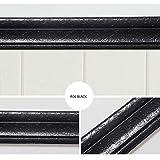 Serria® Selbstklebende dreidimensionale Wandleiste Grenze wasserdichte Wanddekoration Weicher PE-Schaum Eckenrandstreifen (Schwarz)