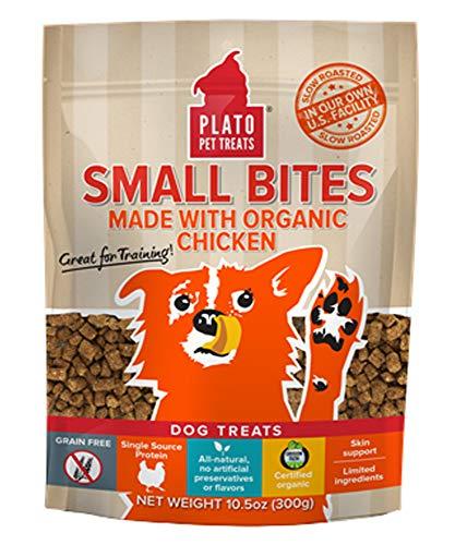 PLATO, Pet Treats, Small Bites Dog Training Treats, Air-Dried in USA,...