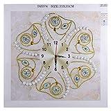 N-K Reloj 5D con brocas, diamantes de imitación, kit de bordado de punto de cruz, para Navidad, decoración del hogar, 35 x 35 cm, popular y práctico, diseño práctico y duradero