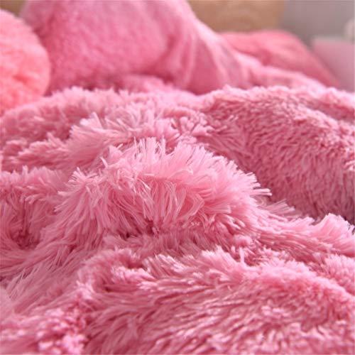 ADGAI Knuffel Teddy Fleece Dekbedovertrek Sets Candy Kleur Gezellige Warm Quilt Cover met Kussen beschikbaar Beddengoed Set in Single Double Size