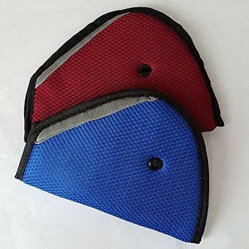 AK KYC 2 Clips Pack Auto Kinder Sicherheitsgurt Einsteller Cover Band Mash Schulter Pad Kinder Sicherheitsgurt Rot Blaues