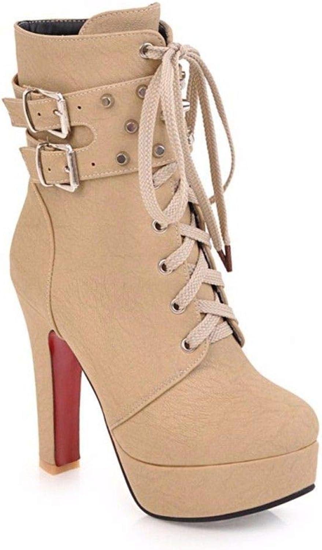AIKAKA Frauen Herbst und Winter Europa und Amerika Sexy warme High Heel Schuhe Kurze Stiefel  | Üppiges Design