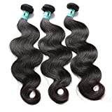 Msbeauty Hair 10A Brazilian Virgin Hair Body Wave 3 Bundles 16 18 20 inch Unprocessed Virgin Human Hair Weave Brazilian Hair Extensions