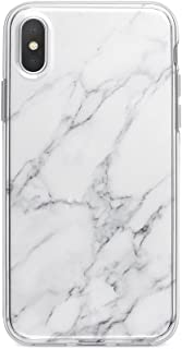 Obbii Case for iPhone X/XS(5.8 inch) Gray White Marble Shockproof Slim TPU Flexible Soft Silicone Protective Durable Cover Case Compatible with iPhone X/XS