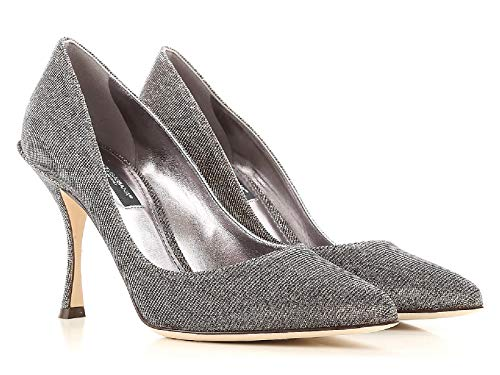 Dolce&gabbana Women's Gold Tech Fabric Pumps - Heels Shoes - Size: 7.5 US