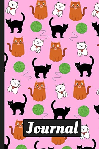 Adorable Cat Journal: Quality Blank Lined Matte Finish...