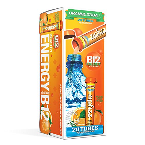 Zipfizz Healthy Energy Drink Mix Hydration with B12 and Multi Vitamins Orange Soda 20 Count