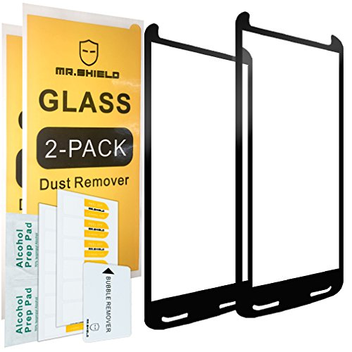 [2-Pack]-Mr.Shield for Motorola Moto Droid Turbo 2 [Tempered Glass] [FullCover] [Black] Screen Protector with Lifetime Replacement