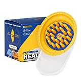 Pethroom Healing Brush - Pet Shampoo Brush   Self Cleaning, Deshedding Brush, Only Remove Loose Fur While Massaging   Comes with 144 Silicon Bristles That is Easy To Clean and Brushes Painlessly   Suitable for Sensitive Skin and Can Be Used on Wet or Dry Fur   Grooming Brush Suitable for Short and Medium Haired Cats and Dogs