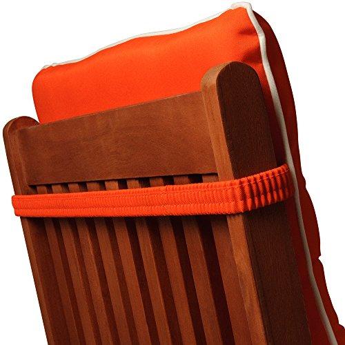 Detex® Stuhlauflage Vanamo 6er Set Wasserabweisend Hochlehner Auflage Sitzauflage Stuhlkissen Polsterauflage Orange
