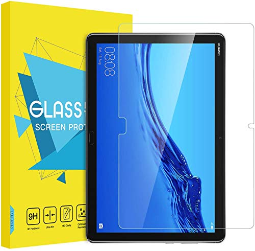 MoKo Protector de Pantalla Compatible con Huawei MediaPad M5 Lite 10 10.1 Inch Tablet - Premium HD Claro 9H Dureza Cristal Templado Película El Revestimiento Oleofóbico - Claro